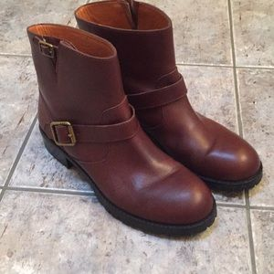 Marc by Marc Jacobs double Buckle Leather Booties